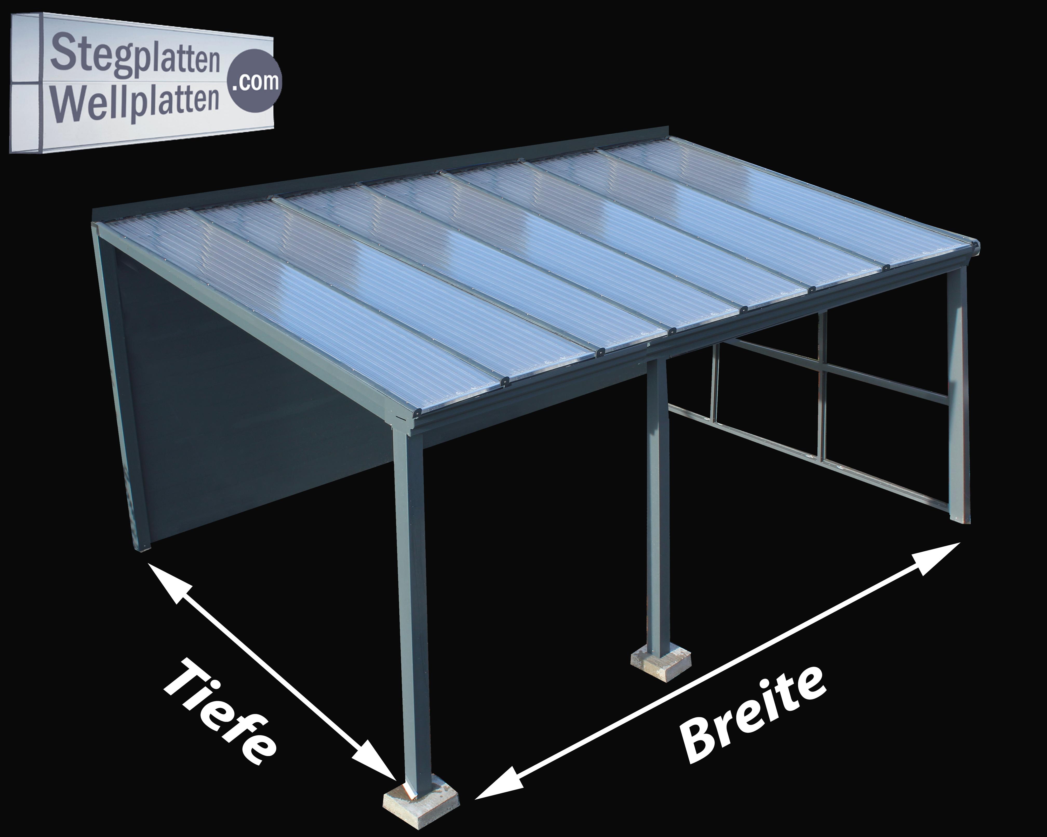 Bausatz Terrassenuberdachung Carport Stegplatten