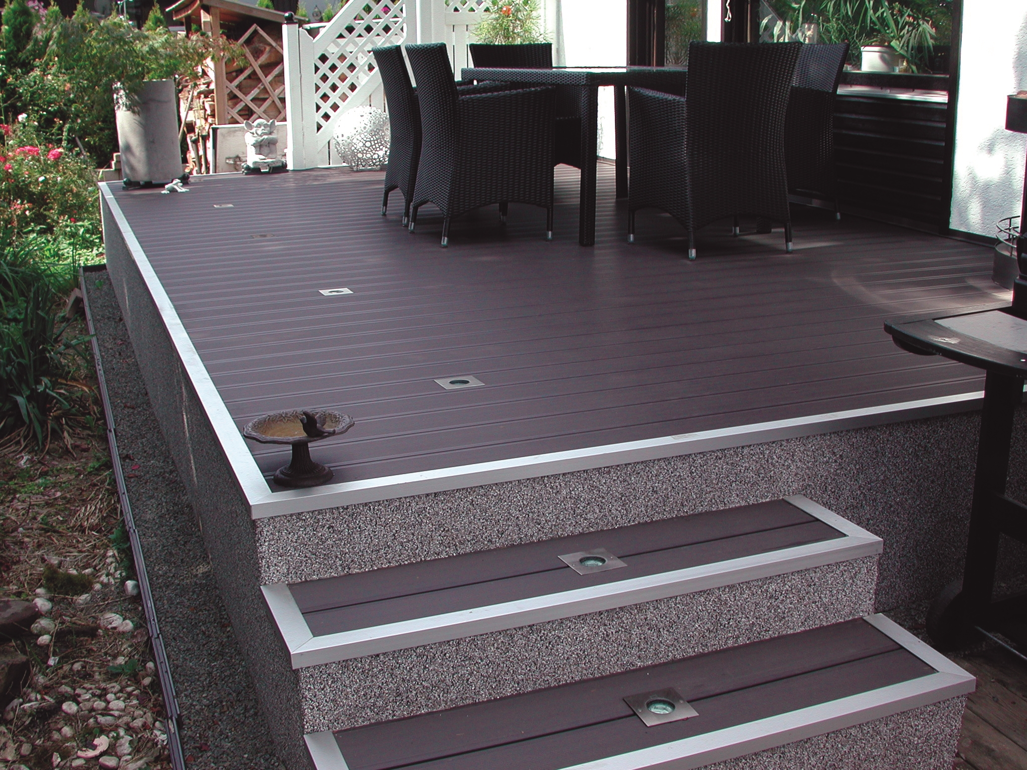 WPC Terrassendiele Bankuflex   braun glatt